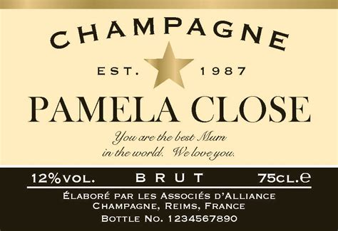 Self Comfort Personalized Champagne Label
