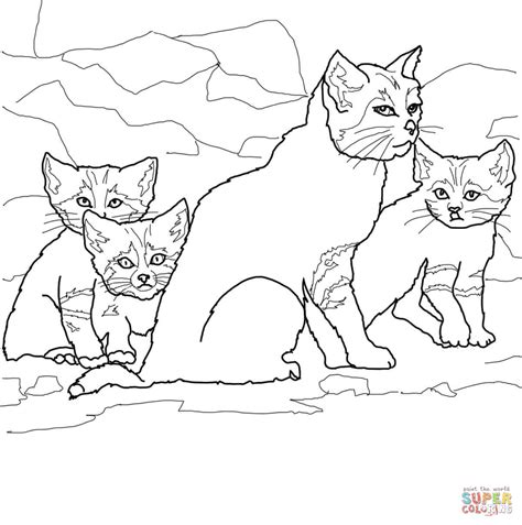 coloring pages of cats and kittens mother cat and kittens coloring pages