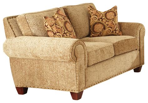 gold chenille sofa steve silver batavia loveseat w 2 accent pillows in deep