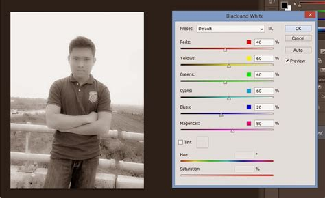 tutorial edit foto hitam putih cara membuat background hitam putih di foto