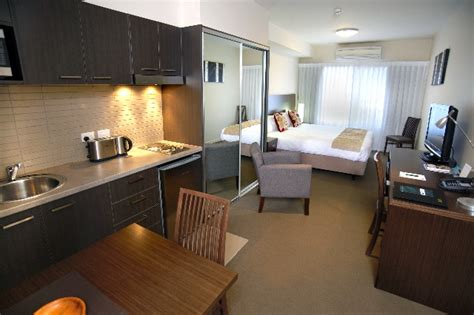 studio room accommodation in shepparton serviced apartments quest