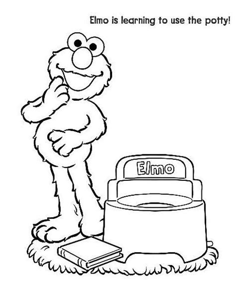 elmo potty coloring page sesame street coloring pages