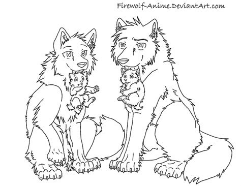 wolves and puppies by firewolf anime on deviantart