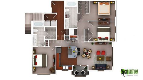 2 Storey Commercial Building Floor Plan by 3d Floor Plan Design Interactive 3d Floor Plan Yantram