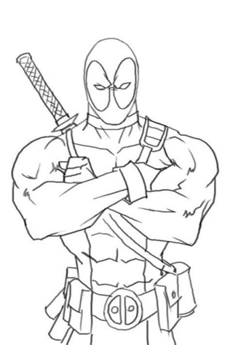 deadpool coloring pages deadpool coloring page free to print superheroes