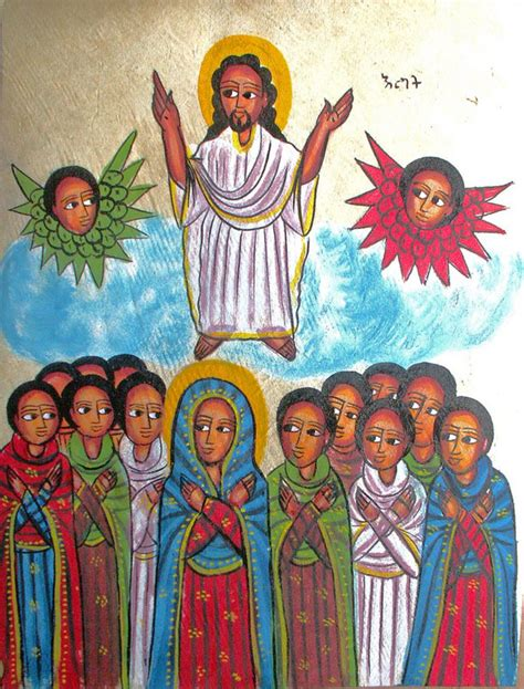 biography of ethiopian artist the ascension into heaven sacred art meditations