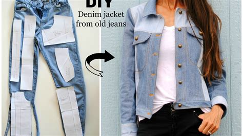 pattern for blue jean jacket upcycled denim jacket from old jeans youtube