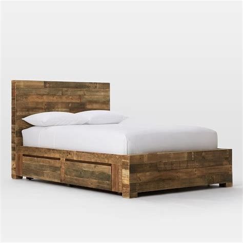 wood storage bed emmerson reclaimed wood storage bed west elm