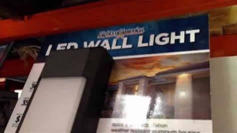 Costco Led Outdoor Lights Lights Of America 13 Watt Outdoor Led Light Fixture Display Costco Wholesale In Fresno Ca