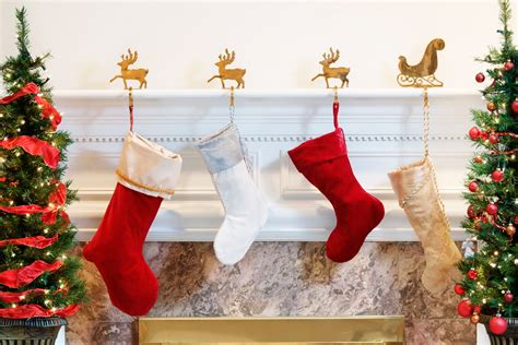 christmas stocking fireplace hangers fireplaces