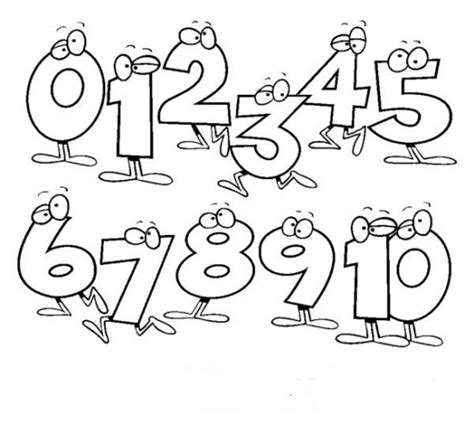 coloring pages numbers 1 10 number coloring pages 1 10 printable pages numbers