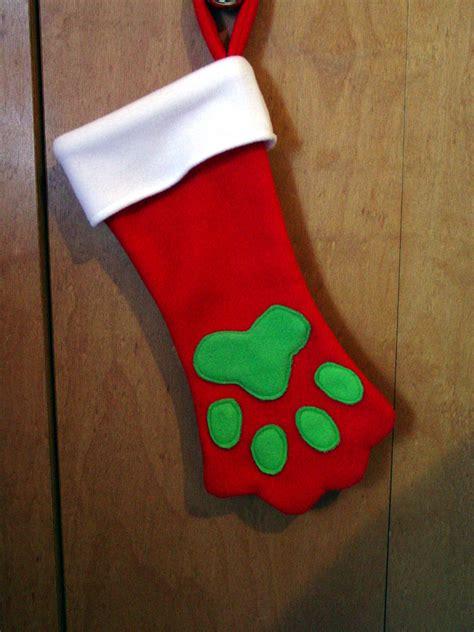 pattern for dog christmas stocking paw dog stocking klc creations
