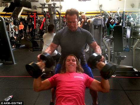 and sons trainer arnold schwarzenegger and joseph at the in