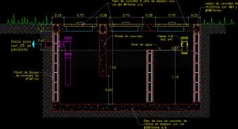 septic tank section absorption pit septic tank dwg section for autocad