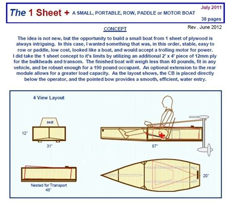 portable boat plans - Small Motor Boat Plans Free
