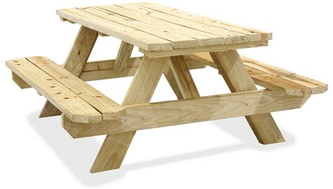 wooden picnic tables in stock uline