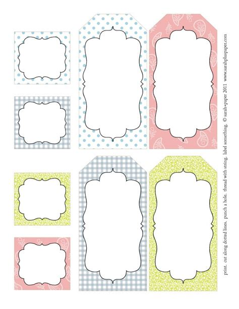 5 best images of tags free printable label templates