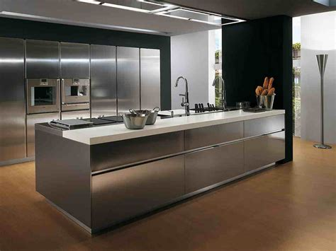 15 contemporary kitchen designs with stainless steel stainless steel kitchen cabinets decosee com