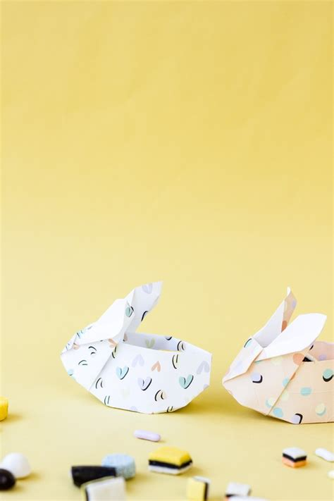 How To Make A Origami Easter Bunny - collab with studio diy origami easter bunny baskets