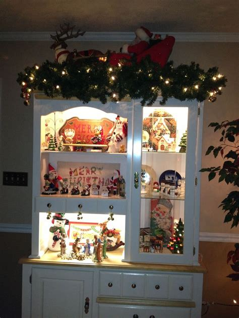 39 best christmas hutch displays images on pinterest