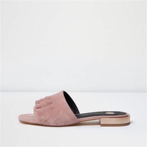 light pink suede boots light pink suede frill mules shoes boots sale
