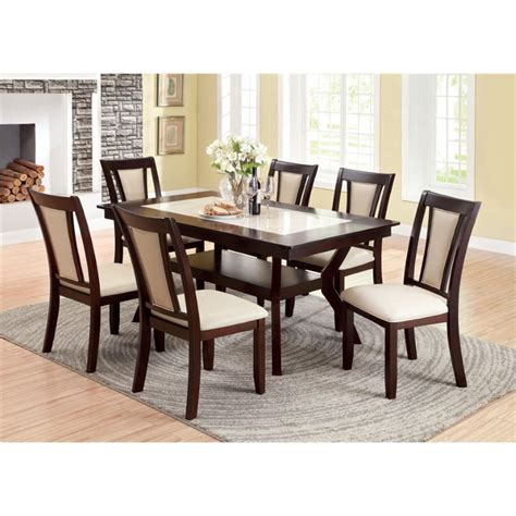 cherry dining set makeover furniture of america melott 7 dining set in