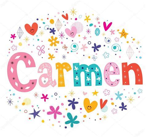imagenes de el nombre carmen dise 241 o de nombre femenino carmen vector de stock