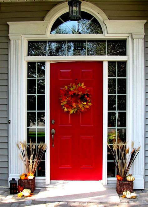 Front Windows Decorating 47 And Inviting Fall Front Door D 233 Cor Ideas Digsdigs