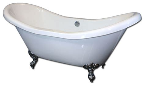 Clawfoot Tub With Whirlpool Jets 72 Quot Acrylic Whirlpool Clawfoot Tub Quot Daviess Quot Traditional