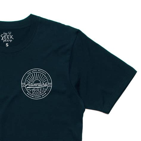 Adventure T Shirt organic cotton adventure t shirt navy the seek society