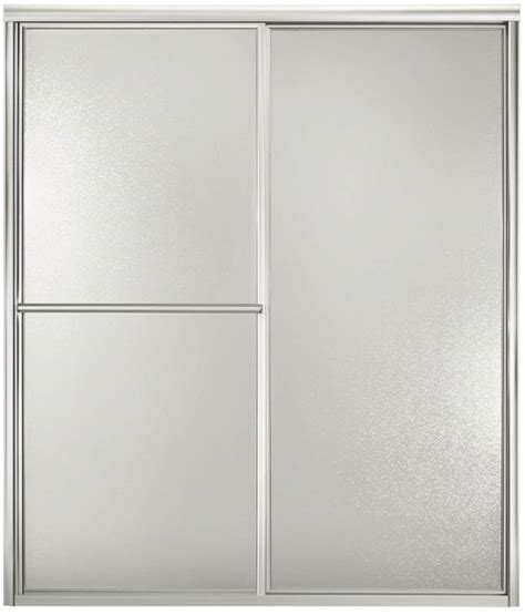 Sterling Bypass Shower Door Sterling 5900 Bypass Shower Door 54 59 3 8 In W X 70 In H Silver