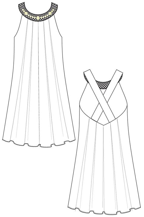 dress design and flat pattern making technical design dresses dress flat sketches clothing