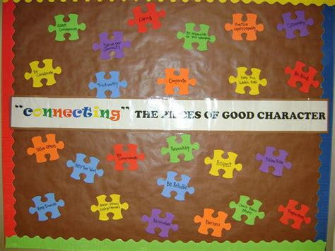 character education themes elementary pillars of character bulletin board ideas elementary