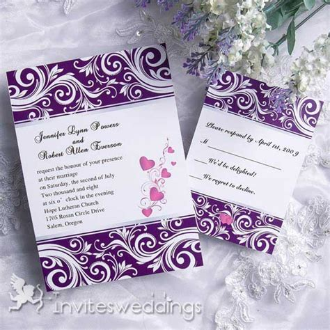 Purple Wedding Invitations by Creative Noble Purple Wedding Invitation Iwi088 Wedding