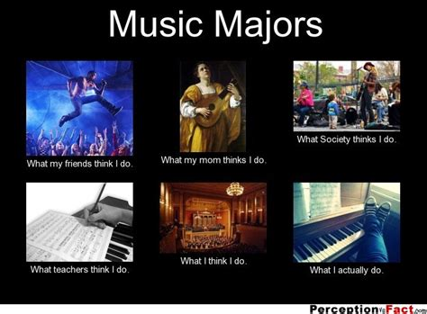 Music Major Meme - music majors what people think i do what i really do