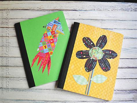 decorating a composition notebook crafts by amanda