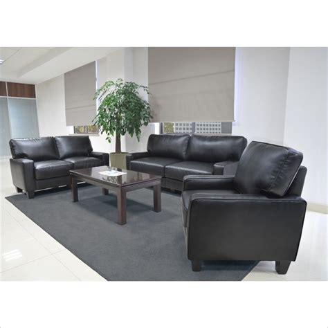 santa sofa set serta rta santa rosa 3 bonded leather sofa set in