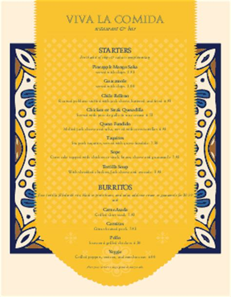 spanish menu templates musthavemenus 62 found