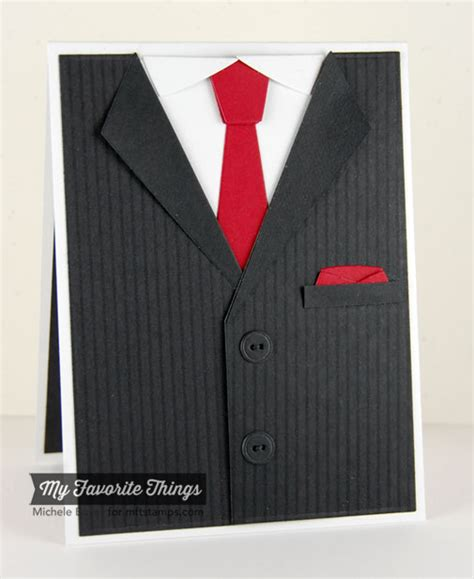 Suits Birthday Card Pinstripe Background Suit And Tie Die Namics Michele