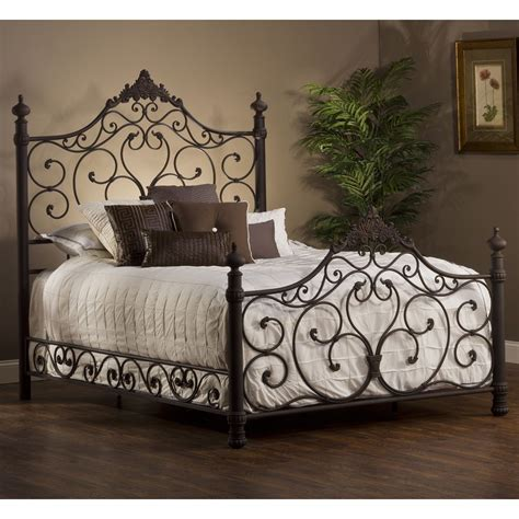 Wrought Iron Bed Frame by Hillsdale 1742bqr Baremore Bed Set W Rails
