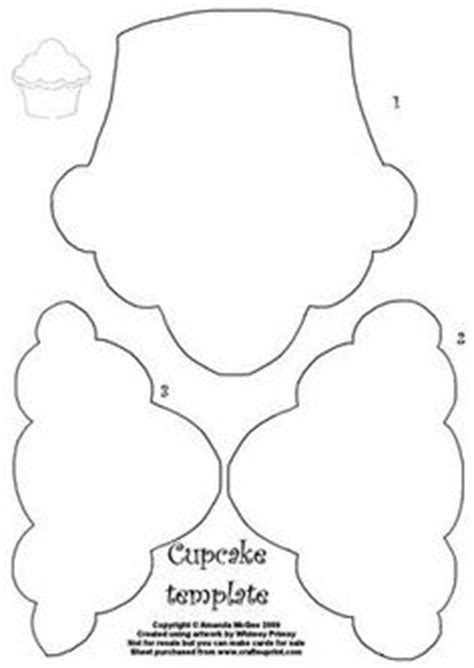 printable cupcake stencils cupcake pattern use the printable outline for crafts