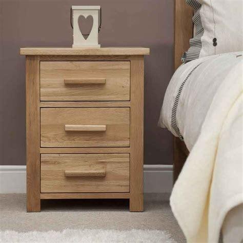 opus oak furniture 3 drawer bedside cabinet