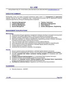Resume Executive Summary executive summary resume samples resume format 2017
