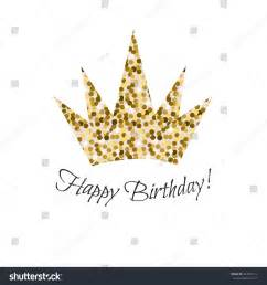 happy birthday crown template birthday glitter crown vector icon gold stock vector