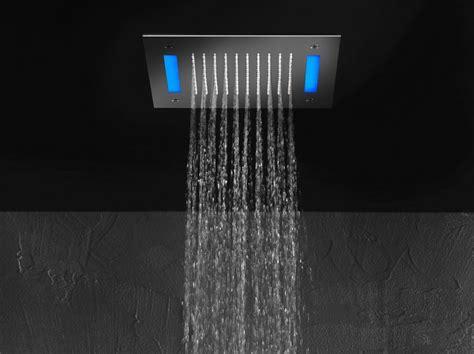 soffione led doccia soffione quadro a led per cromoterapia doccia cascata