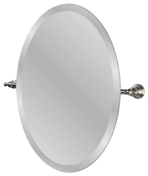 nickel bathroom mirror estates oval mirror brushed nickel 24 2 quot traditional