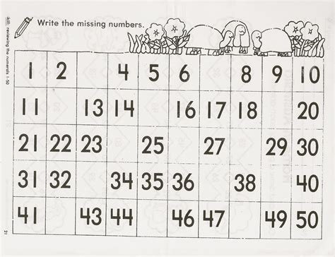 printable page of numbers 1 50 tracing numbers 1 50 kinderpond number gridsnumber