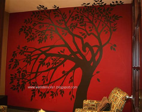 tree stencil for wall mural wall stencils flower wall stencils