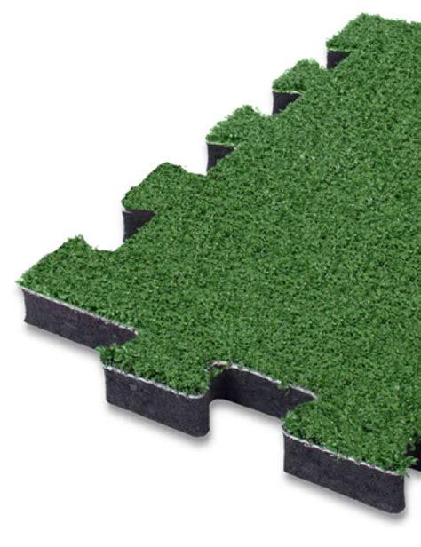 tappeto antitrauma per esterni pavimento antitrauma a puzzle 25mm hic 1 69 mt in erba