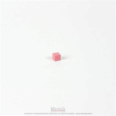 Pink Tower 1 pink tower cube 1 x 1 x 1 montessori spirit